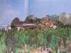 Burg mit Transrapid